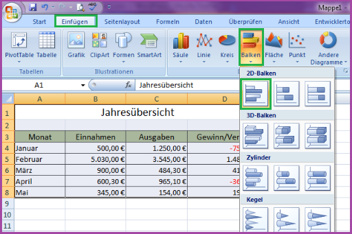 Diagramm in Excel erstellen und bearbeiten - Office-Lernen.com