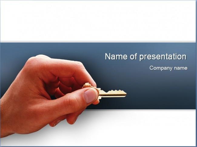 Schlüssel Präsentationsvorlage