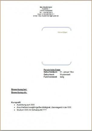deckblatt 2 - Bewerbung Deckblatt Ohne Foto