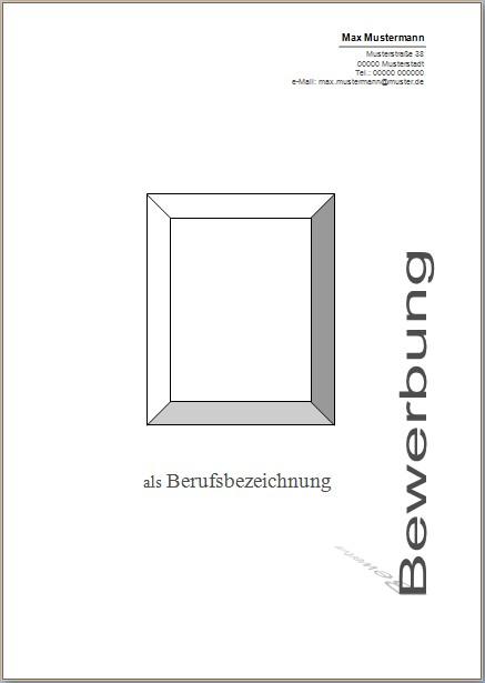 deckblatt 4 - Bewerbung Deckblatt Ohne Foto