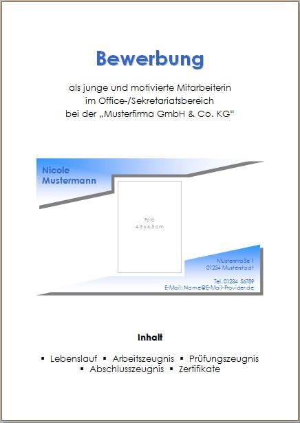 deckblatt 7 - Bewerbung Deckblatt Ohne Foto