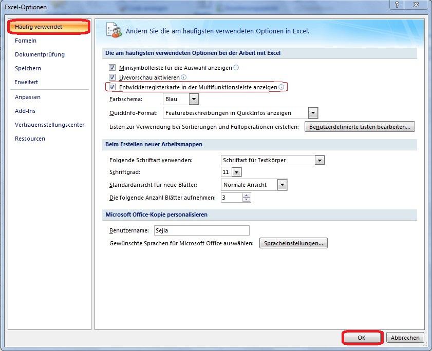 Anwendung Von Makros In Excel Office Lernencom