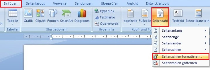 Word Seitenzahlen In Kopf-Und Fußzeile Einfügen - Office-Lernen.Com