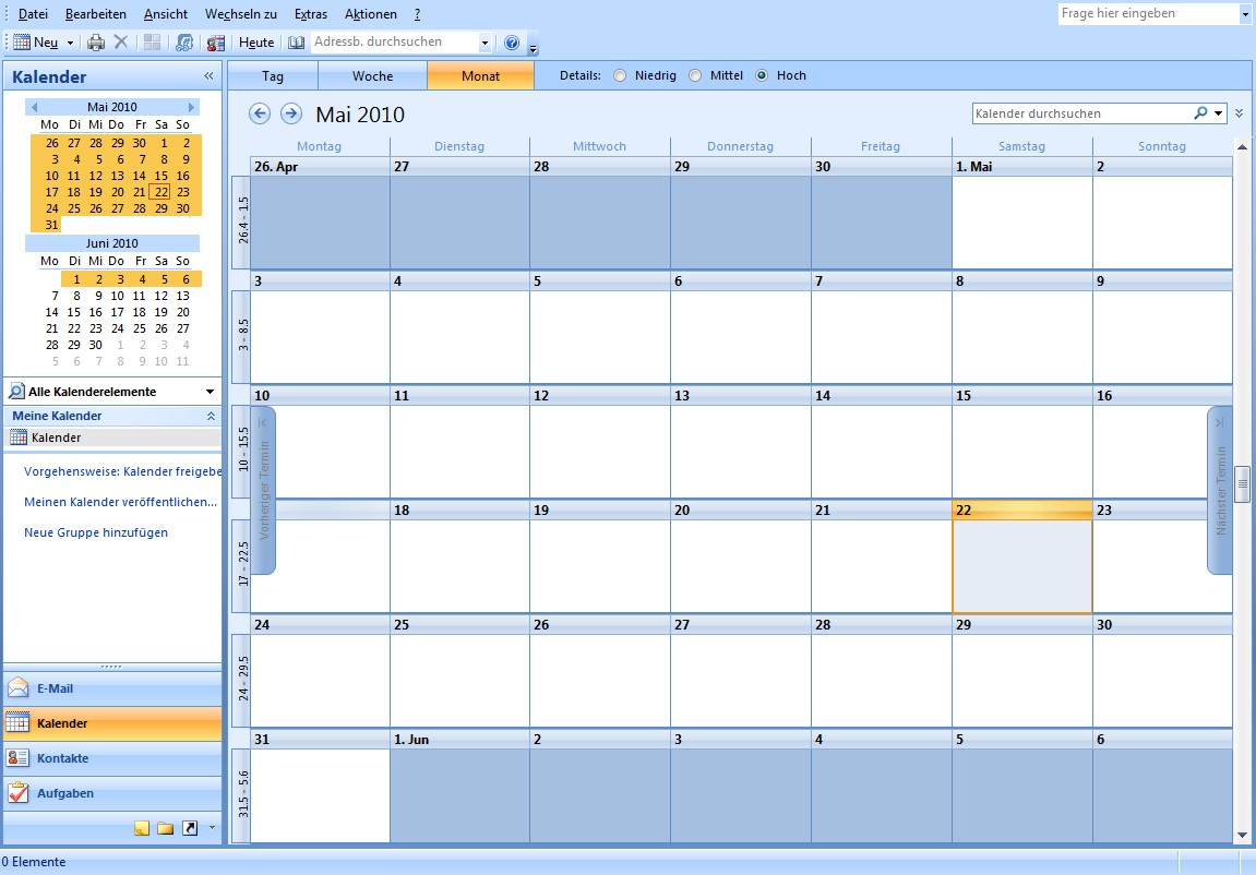 how to look at calendars in outlook