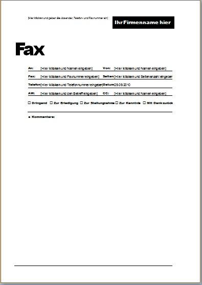 Erfreut Fax Vorlagen Ideen   Bilder für das Lebenslauf