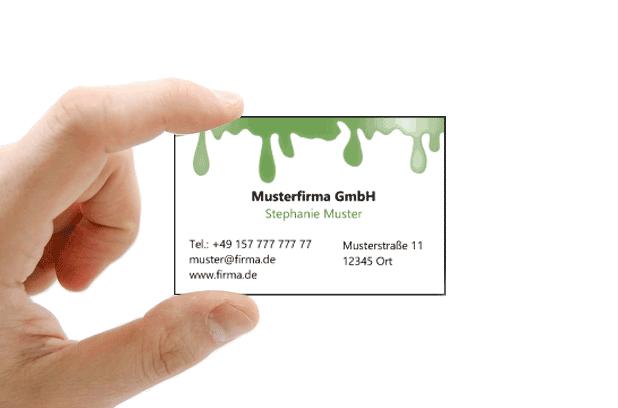 Visitenkarte Farbe Grün