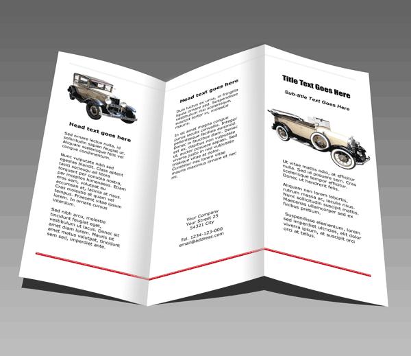 Faltblatt Autos