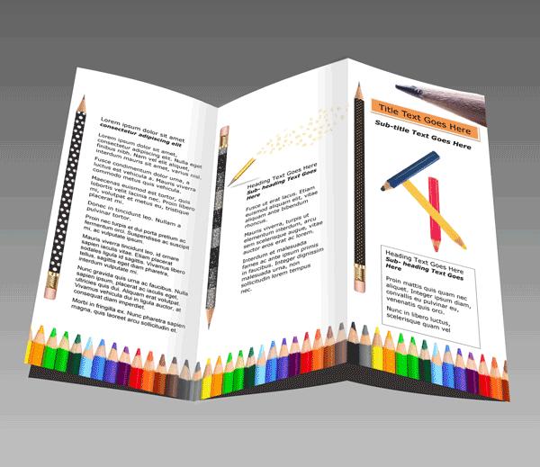 Word faltblatt vorlagen zum herunterladen for Schule design