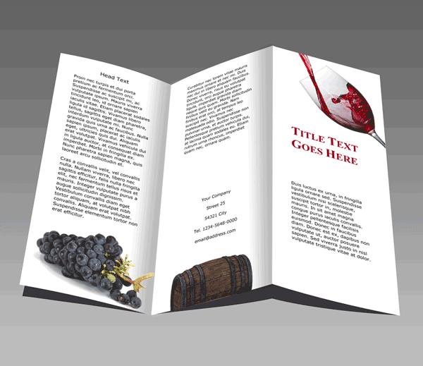 Faltblatt Wein