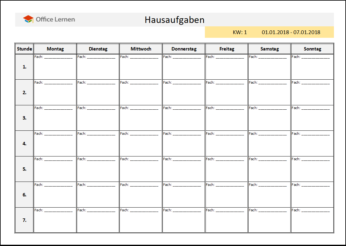 Ziemlich Schule Zeitplan Vorlage Fotos - Bilder für das Lebenslauf ...