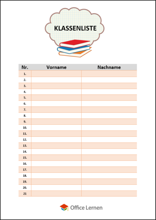 Klassenliste
