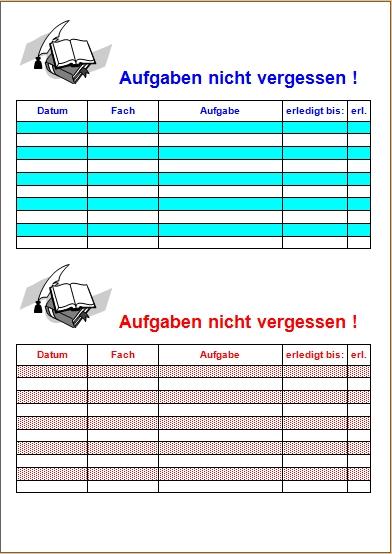 Hausaufgaben nicht vergessen ! - Office-Lernen.com