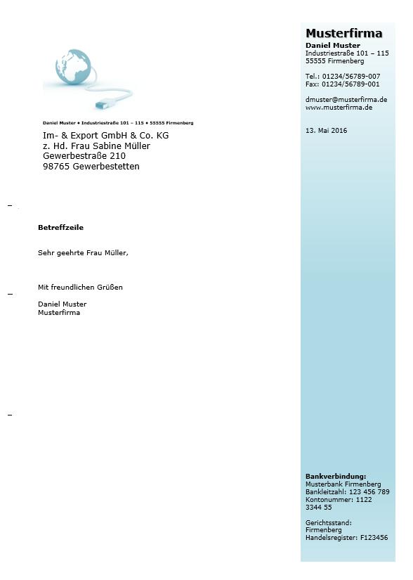 Briefkopf Geschäftlich 04 Office Lernencom