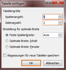 Tabelle in Word erstellen - Office-Lernen.com