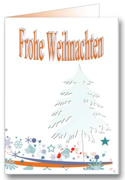 Schneeflocken Weihnachtsgrußkarte