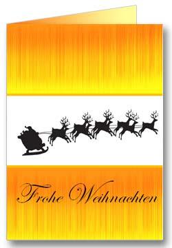 Weihnachtsschlitten Weihnachtsgrußkarte