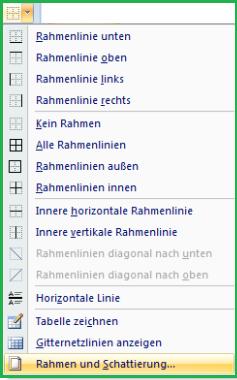 Rahmen Seitenrand Linien Und Schattierungen In Word Dokument
