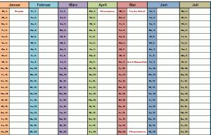 Bunter Jahreskalender 2013