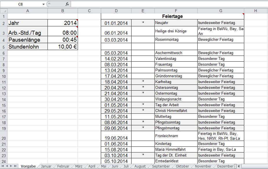 Arbeitszeitnachweis Vorlage mit Excel erstellen - Office-Lernen.com