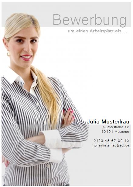 Bewerbungsdeckblatt Professionell