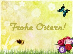 Frohe Ostern Blume