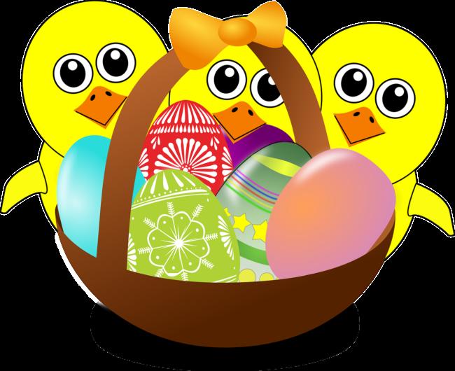 Osterküken mit Korb