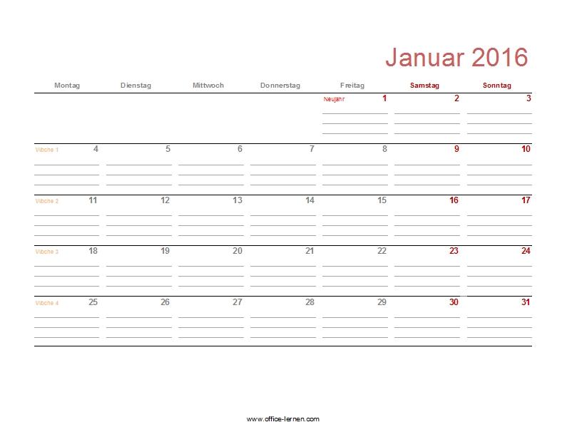 monatskalender 2016 mit feiertagen und kw monatskalender 2016 mit ...