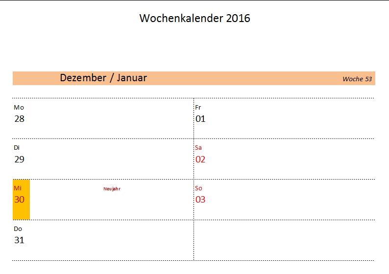 Kostenlose Kalendervorlagen 2016 - Office-Lernen.com - Seite 2 von 2