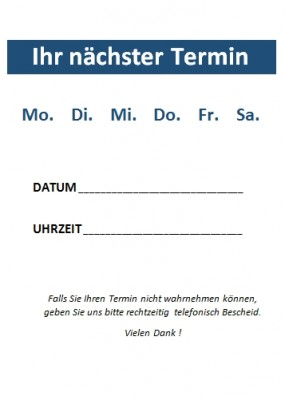 Terminzettel Neutral - Blau
