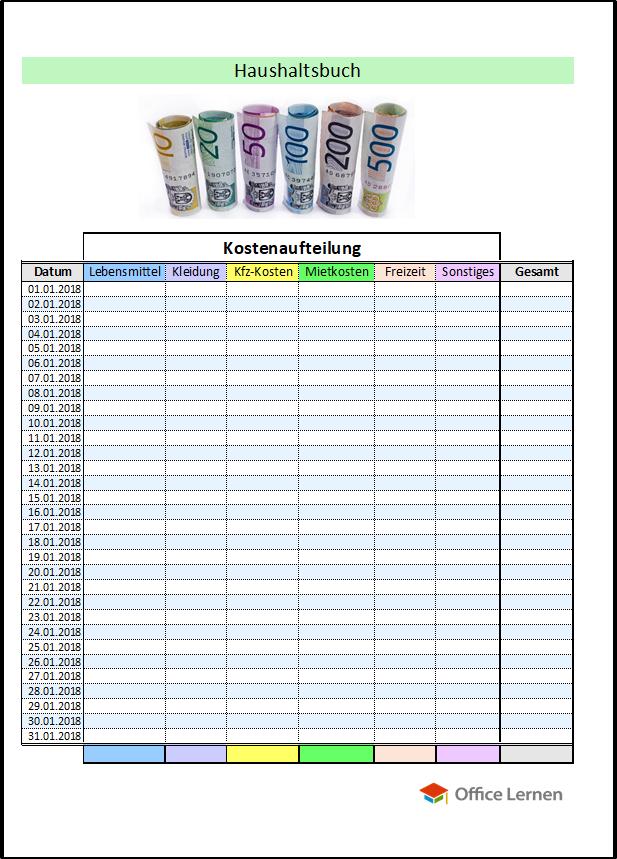 haushaltsbuch kostenlos