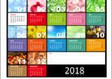 Bunter Jahreskalender 2018