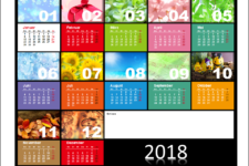 PowerPoint Kalendervorlagen 2018