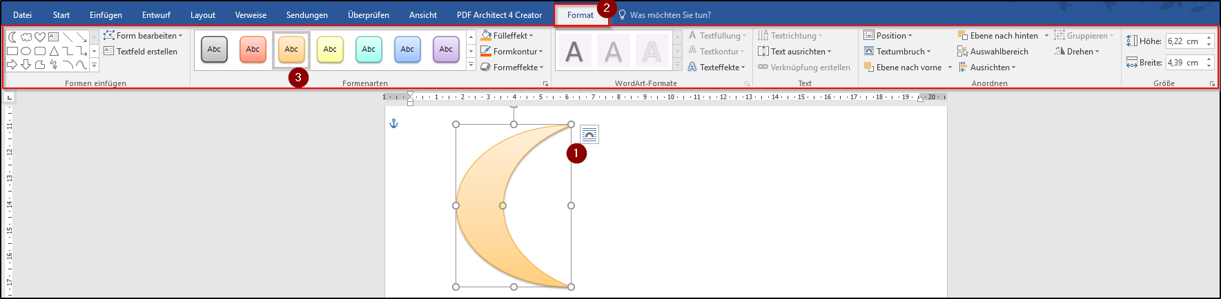 Word: Formen hinzufügen - Office-Lernen.com
