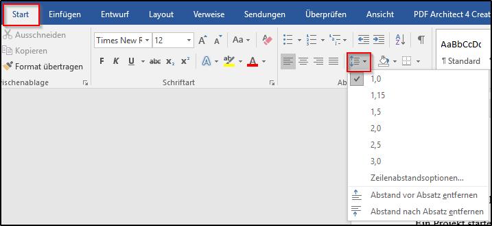 Wie Kann Ich In Word Den Zeilenabstand ändern Office Lernencom
