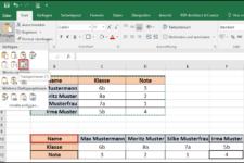 Wie kann man in Excel Spalten und Zeilen vertauschen?