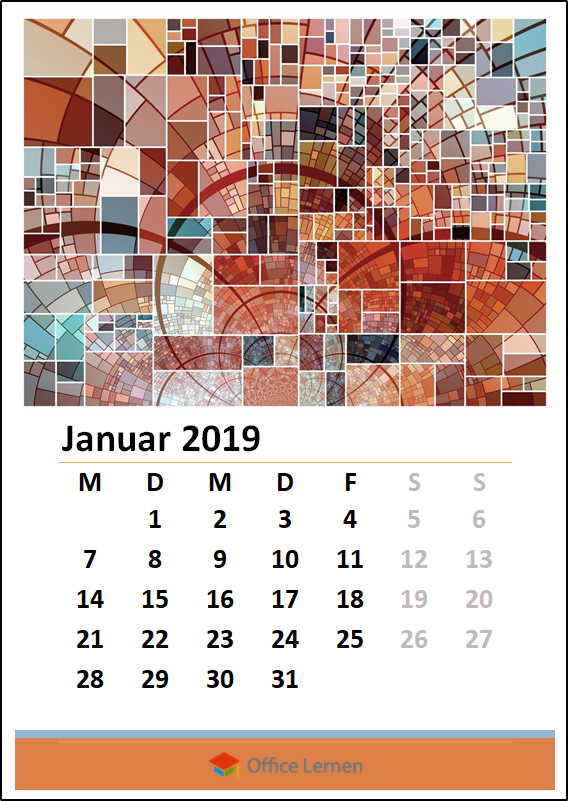 powerpoint kostenlose kalendervorlagen 2019 office. Black Bedroom Furniture Sets. Home Design Ideas