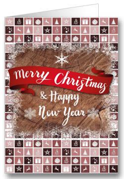 Weihnachtskarte Bunt