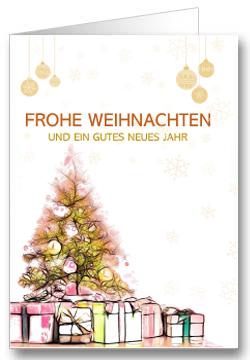 Weihnachtskarte-Gold