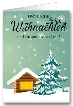 Weihnachtskarte-Haus