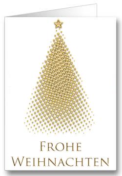 Weihnachtskarte-Weihnachtsbaum-Gold