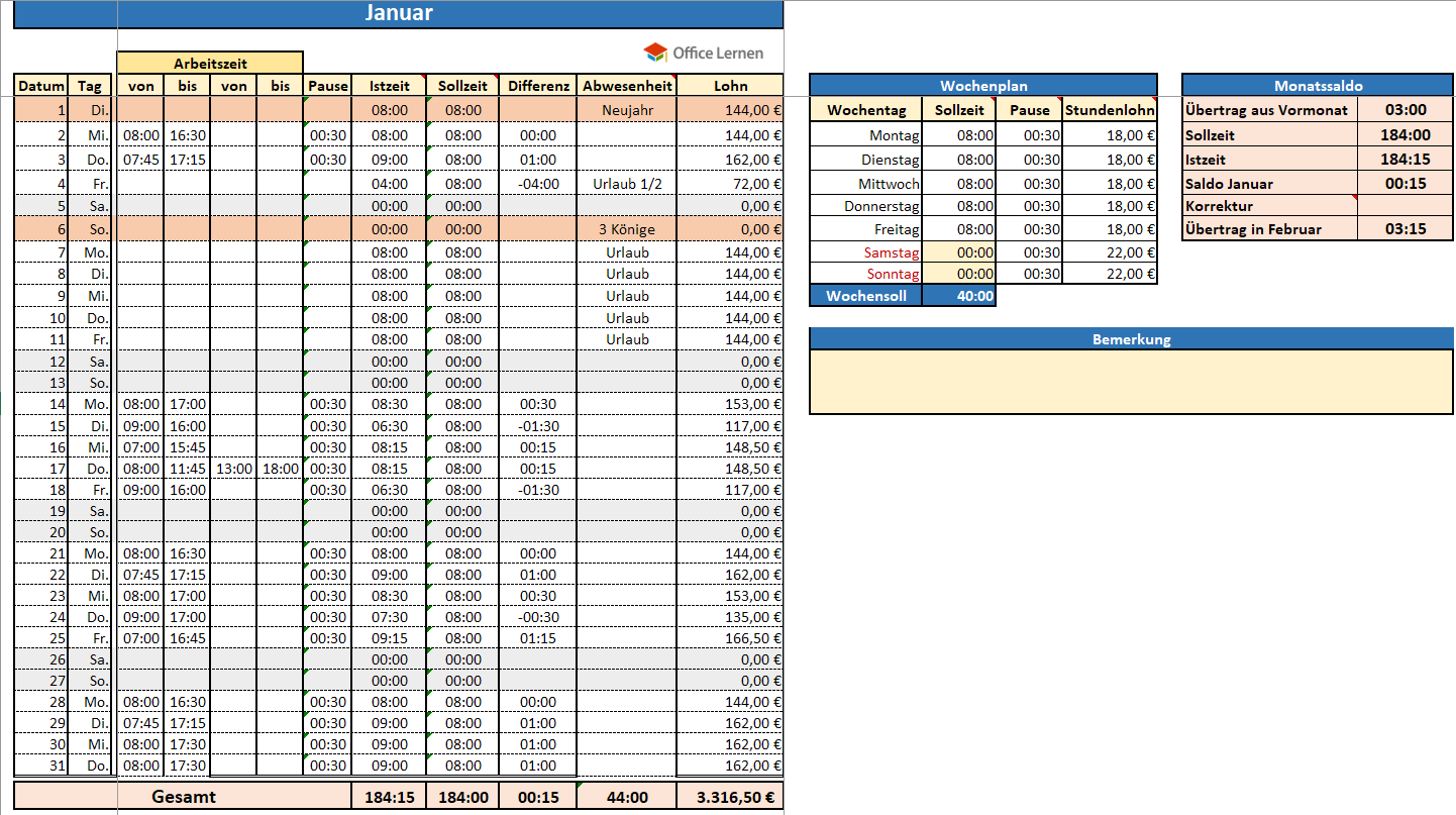 Excel Arbeitszeitnachweis Vorlagen 2019 Excel Stundenzettel