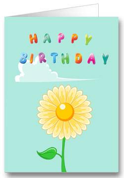 Geburtstagskarte für Kinder Blume