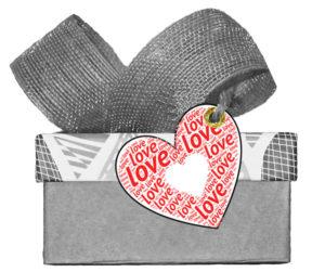Herz Love Geschenkanhänger