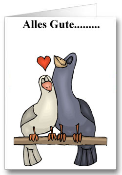 Valentinstagkarte Alles Gute