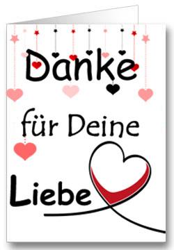 Valentinstagkarte Danke für Deine Liebe