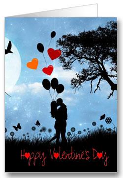 Valentinstagkarte Happy Valentinesday Liebespaar
