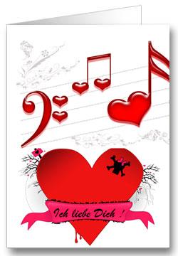 Valentinstagkarte Ich Liebe Dich ...