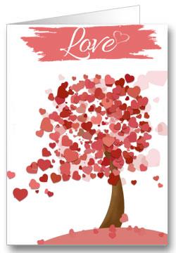 Valentinstagkarte Liebesbaum Love