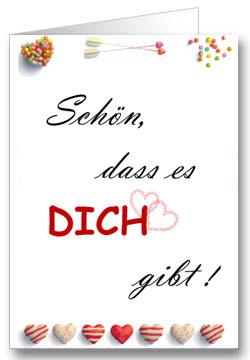 Valentinstagkarte You U0026 Me, Valentinstagkarte Schön, Dass Es Dich Gibt !