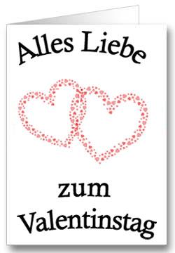 Valentinstagkarte Zwei Herzen